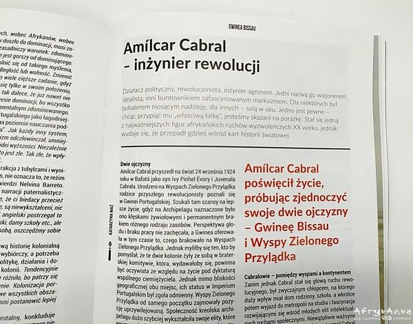 Amílcar Cabral to niezwykle ciekawa postać.
