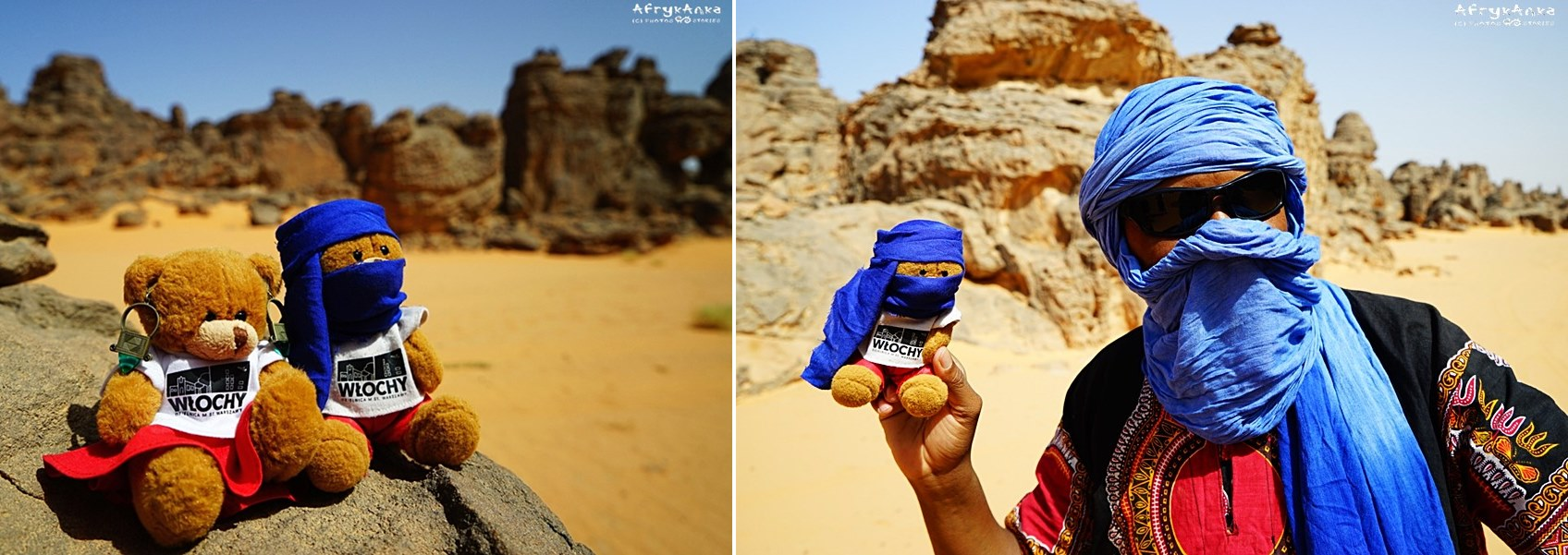Misia i Miś podczas podróży z Tuaregami ubrały się stosownie!