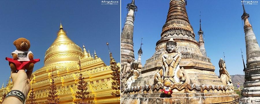 W Birmie jest wiele pięknych świątyń.