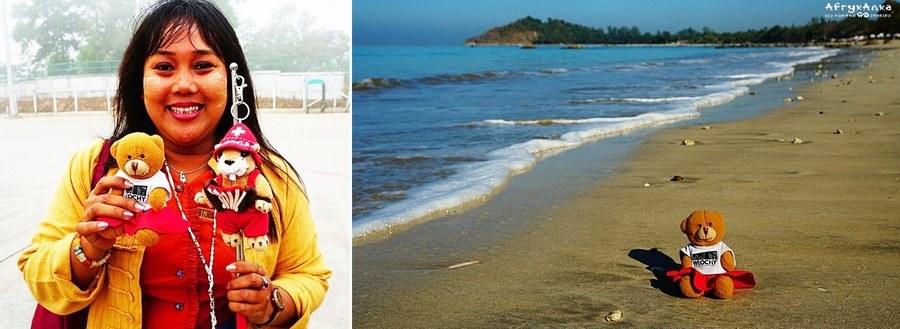 Pani przewodnik i... wreszcie plaża!