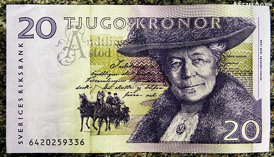 Selma Lagerlof na banknocie.