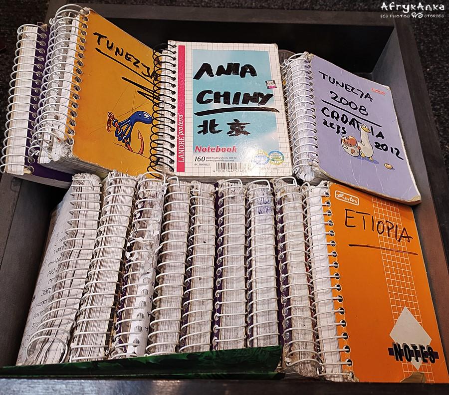 Szuflada z notatnikami... Czytać będę chyba wnukom :D