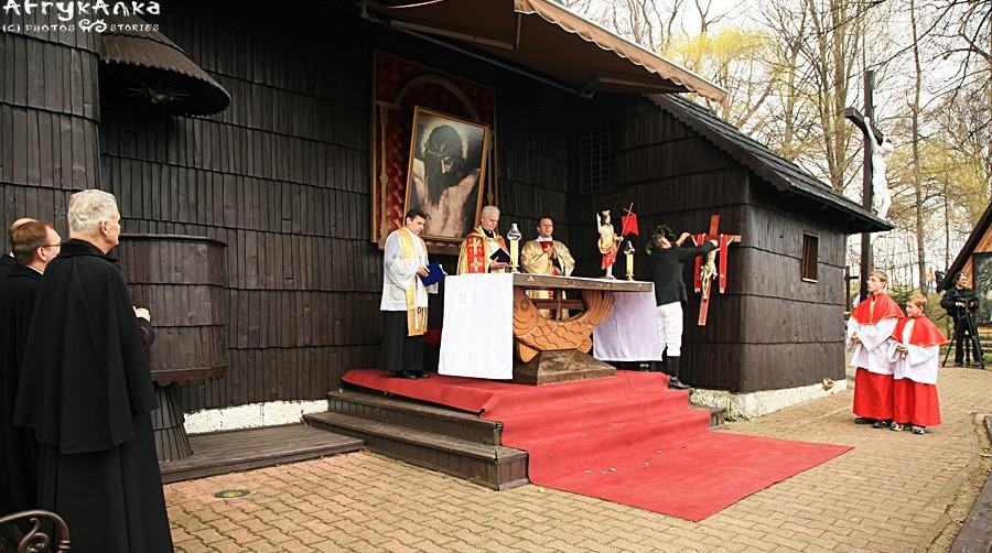 Msza w kościele św. Krzyża.