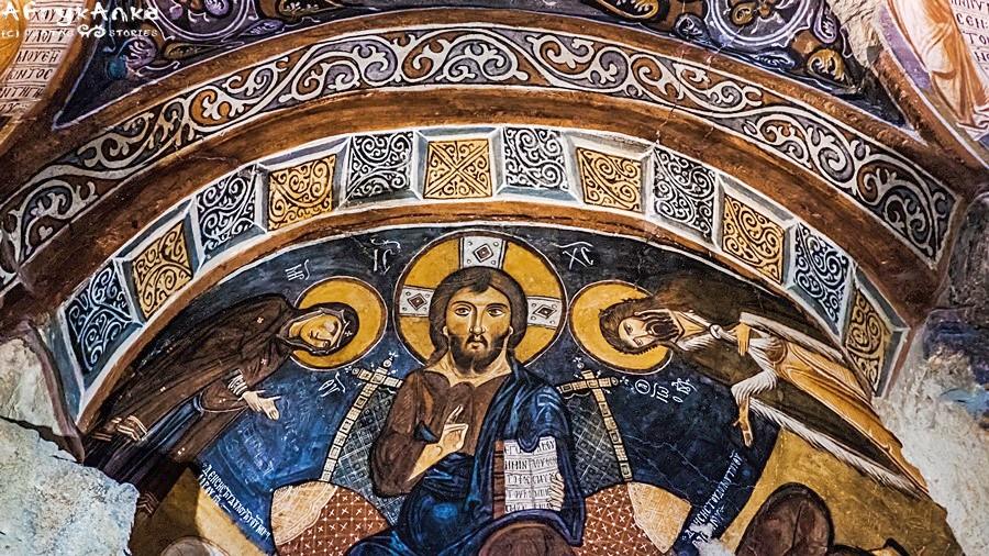 Chrystus Pantokrator - malunek z Ciemnego Kościoła.