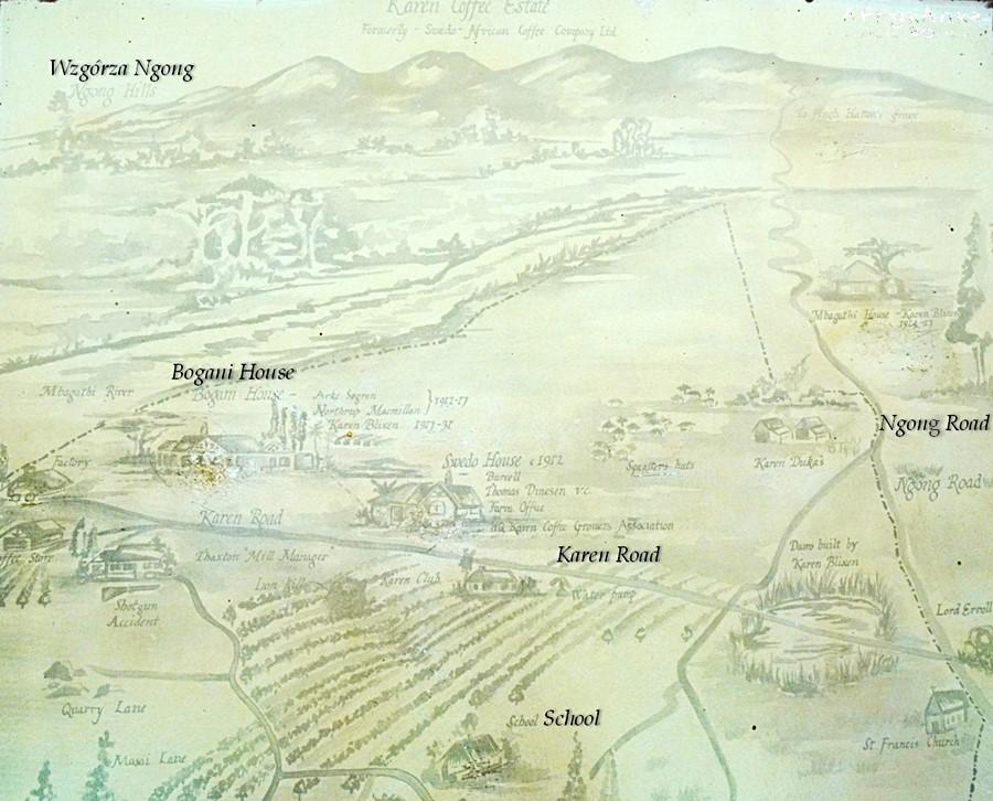 Mapa domu jego otoczenia.