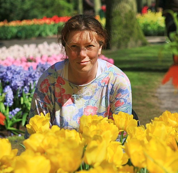 Ja w Keukenhof - tulipanowym raju.