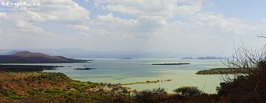 Jezioro Baringo - panorama z punktu widokowego.