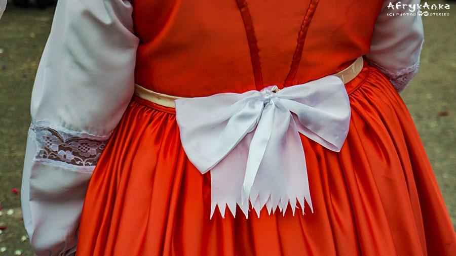 Biskupizna - detal sukienki.