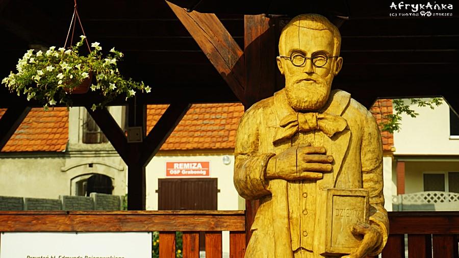 Grabonóg - pomnik Edmunda Bojanowskiego.