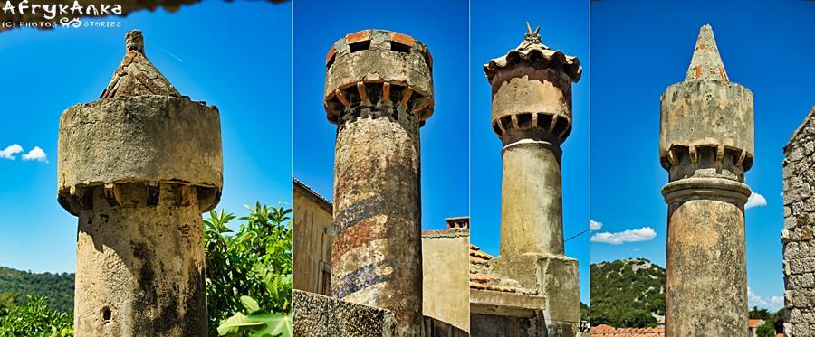 Ozdobne kominy to wizytówka wyspy Lastovo.