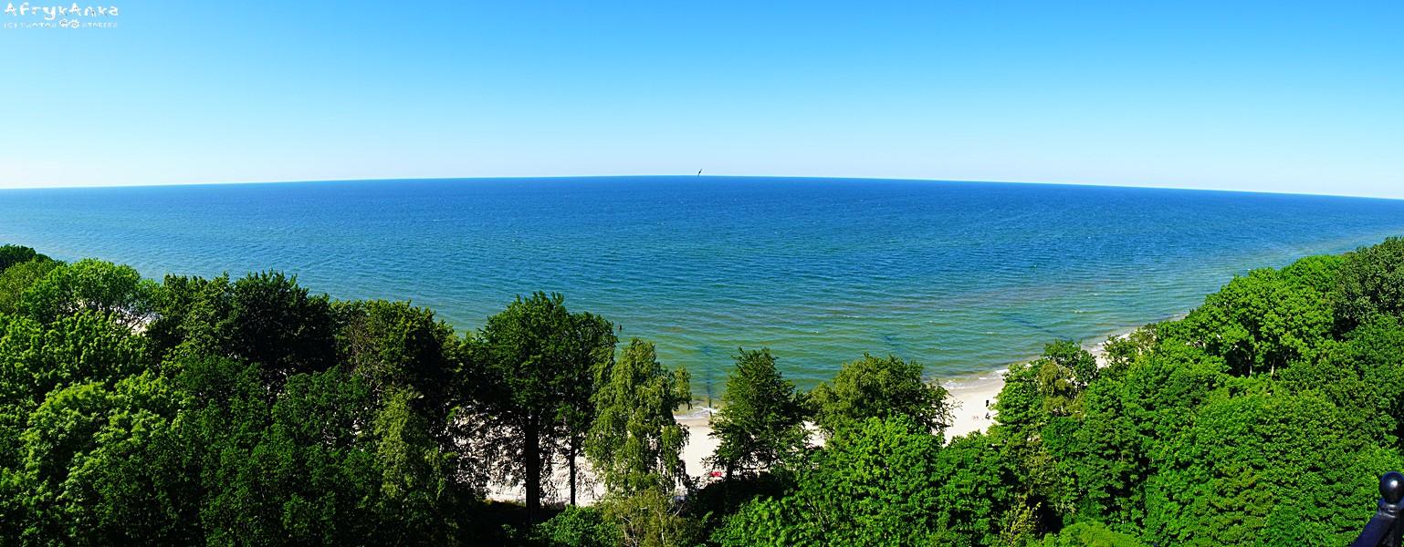 Panorama z latarni morskiej w Gąskach.