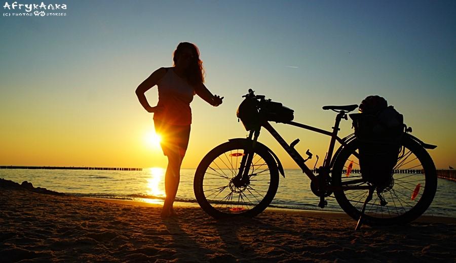 Ja z rowerem nad morzem :D