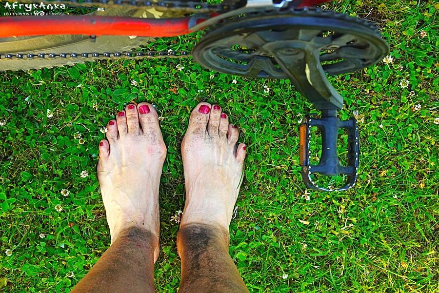 Moje nogi pod koniec dnia...