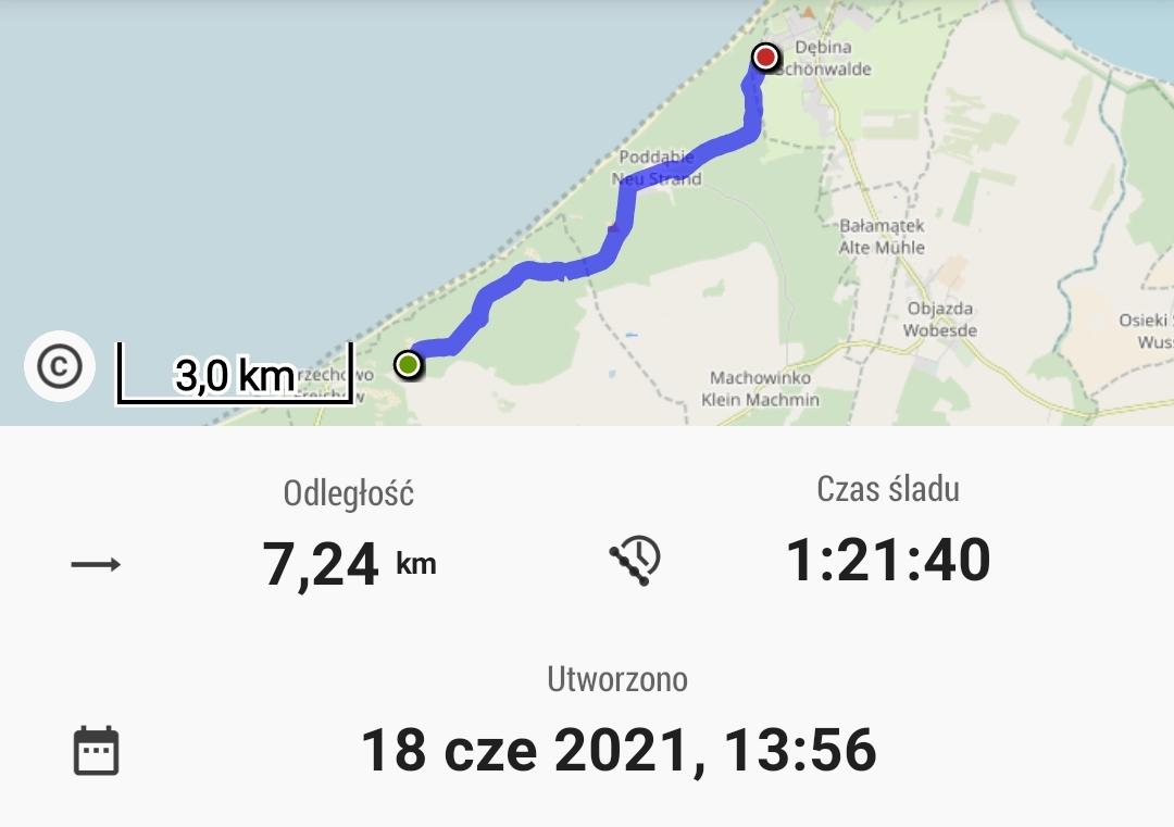 Z Orzechowa do Dębiny. Niby jesteśmy rowerem nad morzem, ale ze ścieżki plaży nie widać.